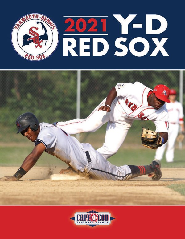 2021 Yearbook cover for the Y-D Red Sox